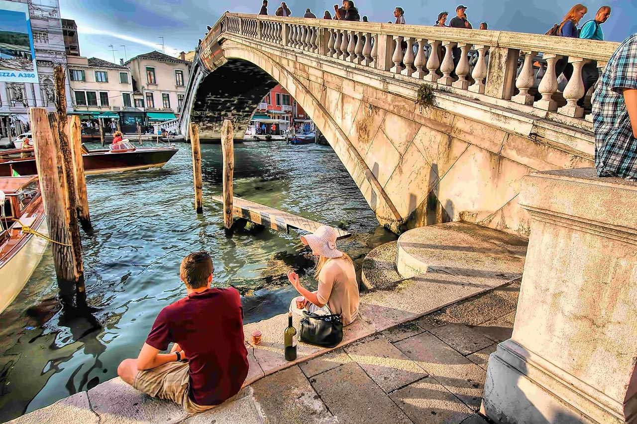 romantic destination Venice Italy
