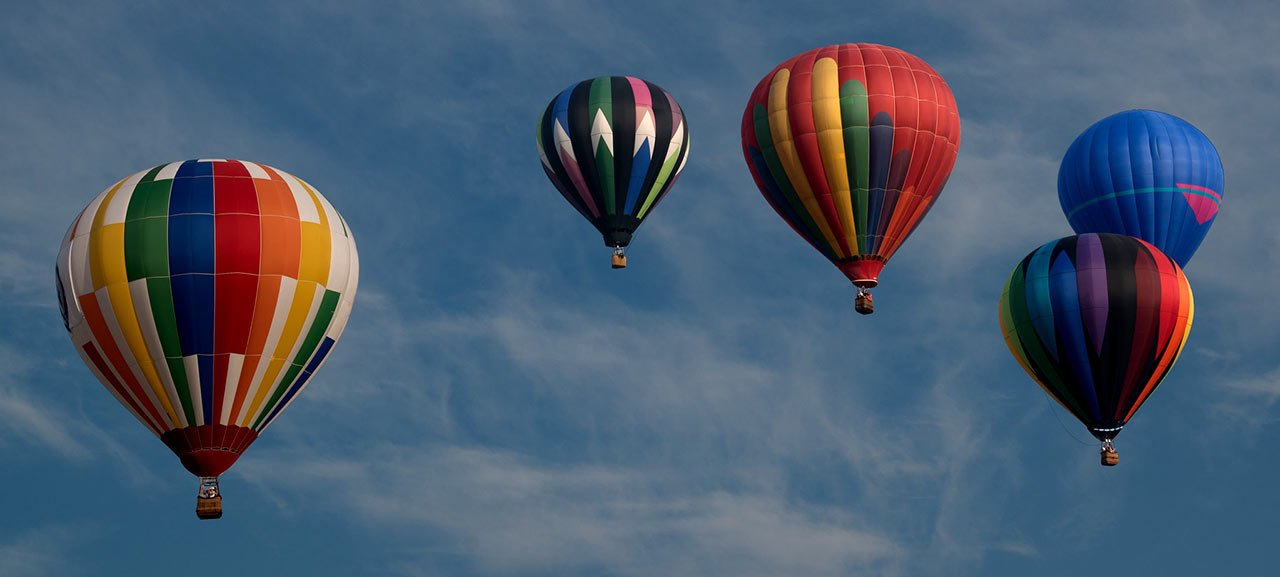 Great Places to take a hot air balloon ride