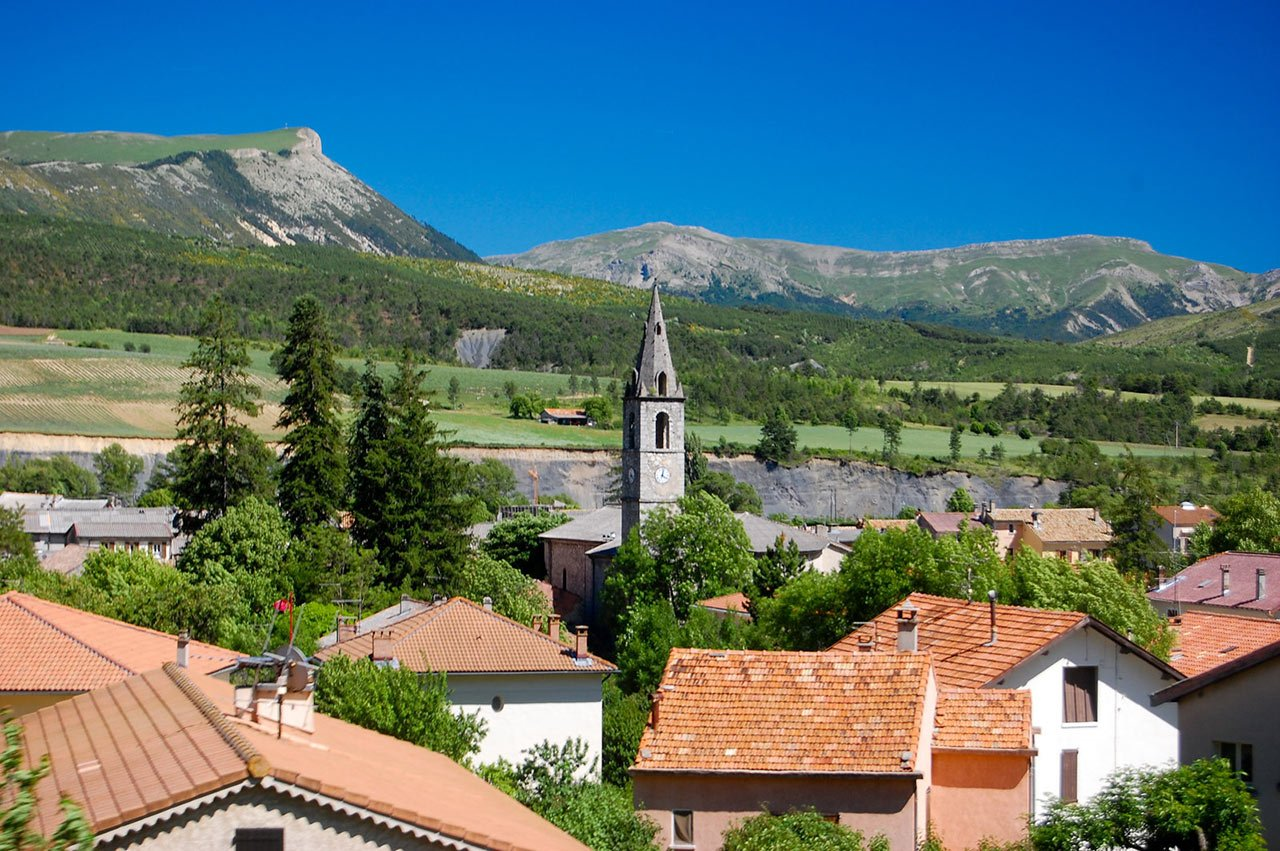 St. Andre les Alpes, as seen from the Train de Pignes   Image Credits:  Eric Allix Rogers via Flickr (CC BY-NC-ND 2.0)