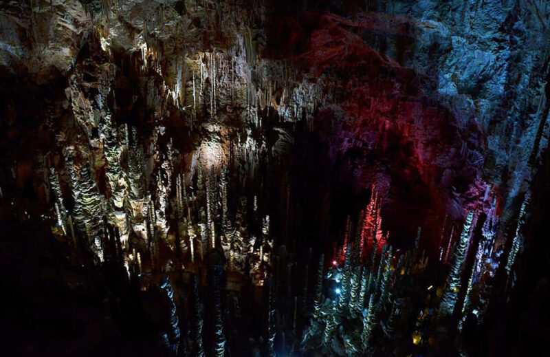 Aven Armand stalagmites Cave South France